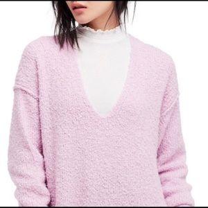 Free people Light Purple Lofty Sweater S